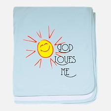 God Loves Me baby blanket