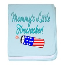 Mommy's Little Firecracker bl baby blanket
