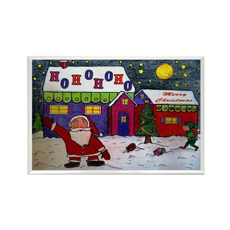 Merry Christmas 2010 Rectangle Magnet (100 pack)