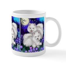 American Eskimo Dogs Moon Garden Mug