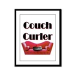 Couch Curler Framed Panel Print