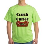 Couch Curler Green T-Shirt