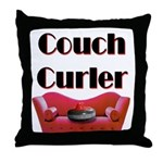 Couch Curler Throw Pillow