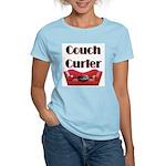 Couch Curler Women's Pink T-Shirt