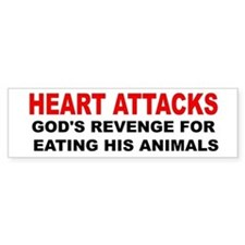 Heart Attacks Bumper Sticker