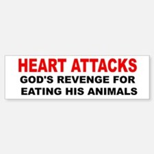 Heart Attacks Sticker (Bumper)