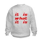 It Is What It Is Kids Sweatshirt