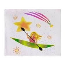 Star Kayaker Throw Blanket