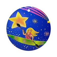 Star Kayaker Ornament (Round)