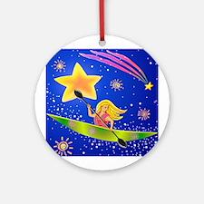 Star Kayaker Ornament (Round)