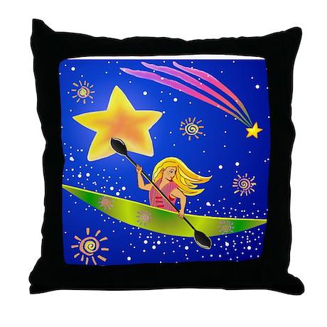 Star Kayaker Throw Pillow