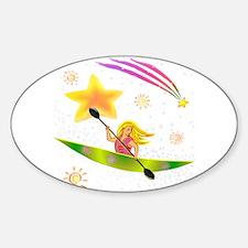 Star Kayaker Sticker (Oval)