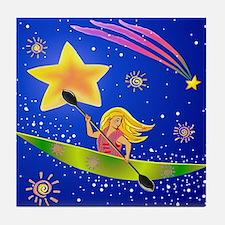 Star Kayaker Tile Coaster