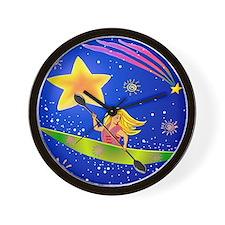 Star Kayaker Wall Clock