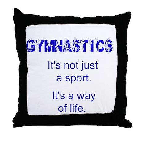 Gymnastic Life Throw Pillow