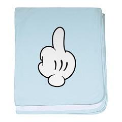 Middle Finger Glove baby blanket