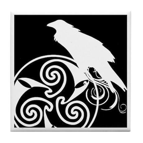 Celtic Raven Tile Coaster