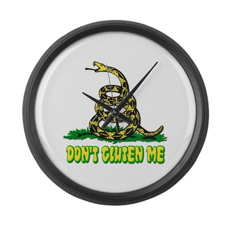 Don't Gluten Me Snake Large Wall Clock
