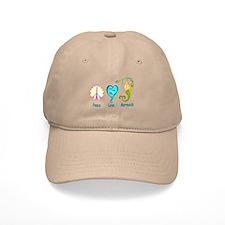Peace,Luv,Mermaids Baseball Cap
