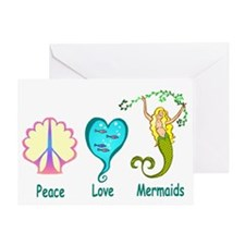 Peace,Luv,Mermaids Greeting Card