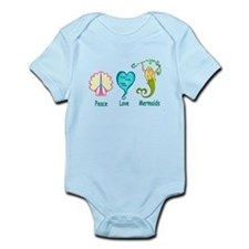Peace,Luv,Mermaids Infant Bodysuit