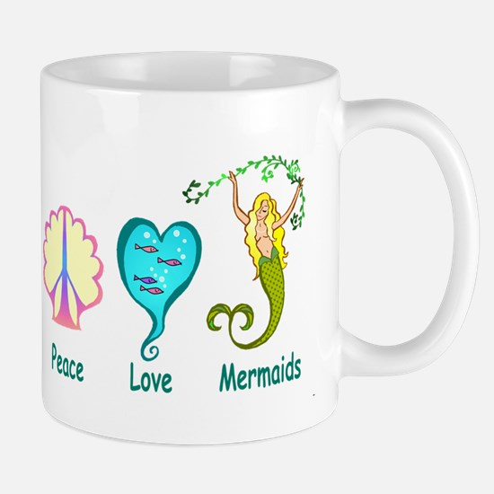 Peace,Luv,Mermaids Mug