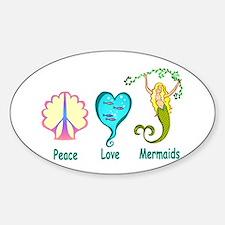 Peace,Luv,Mermaids Decal