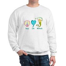 Peace,Luv,Mermaids Sweatshirt