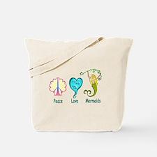 Peace,Luv,Mermaids Tote Bag