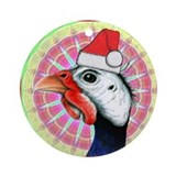 Guinea fowl Round Ornaments