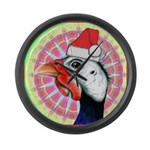 Have a Very Guinea Christmas! Large Wall Clock
