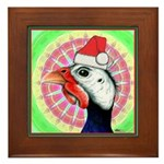 Have a Very Guinea Christmas! Framed Tile