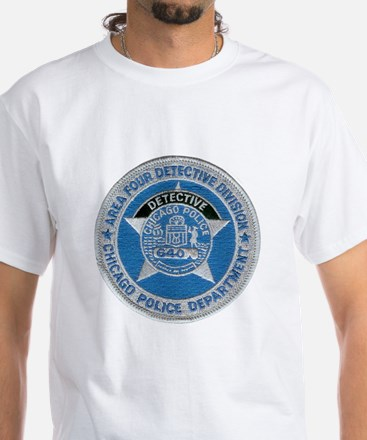 Chicago Police Detective White T-Shirt