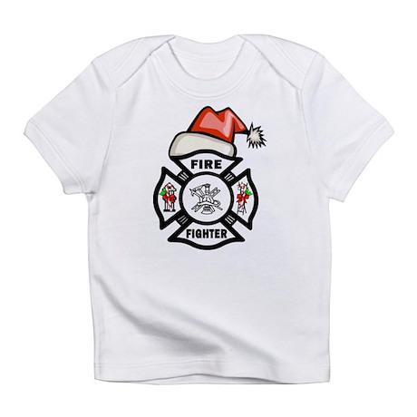 Firefighter Santa Infant T-Shirt