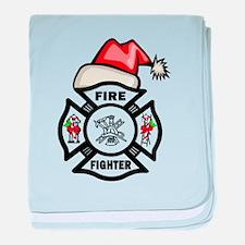 Firefighter Santa baby blanket