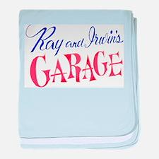 Ray and Irwin's Garag baby blanket