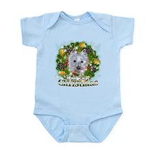 Merry Christmas Westie 2 Infant Bodysuit