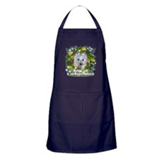 Merry Christmas Westie 2 Apron (dark)