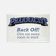 Pharmacist / Back Off Rectangle Magnet (100 pack)