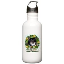 Merry Christmas Pekingnese Black Water Bottle