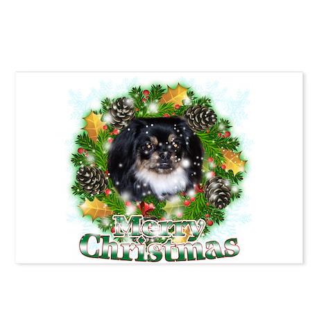 Merry Christmas Pekingnese Black Postcards (Packag