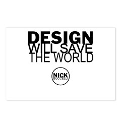 Design Will Save the World Postcards (Package of 8