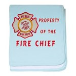 Fire Chief Property baby blanket