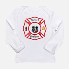 Future Firefighter Red Long Sleeve Infant T-Shirt