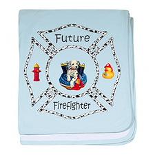 Future Firefighter Dalmatian baby blanket