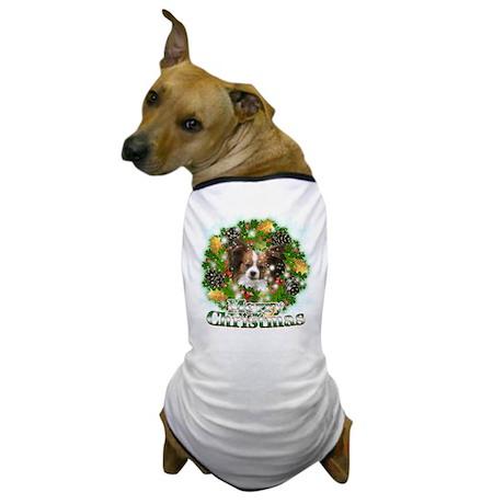 Merry Christmas Papillon Dog T-Shirt