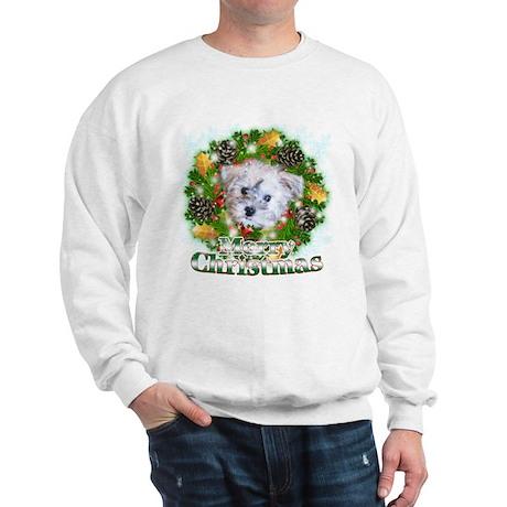 Merry Christmas Schnoodle Sweatshirt