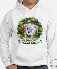 Merry Christmas Schnoodle Hoodie