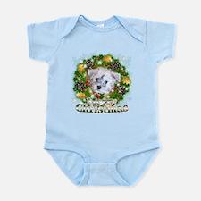 Merry Christmas Schnoodle Infant Bodysuit