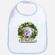 Merry Christmas Schnoodle Bib